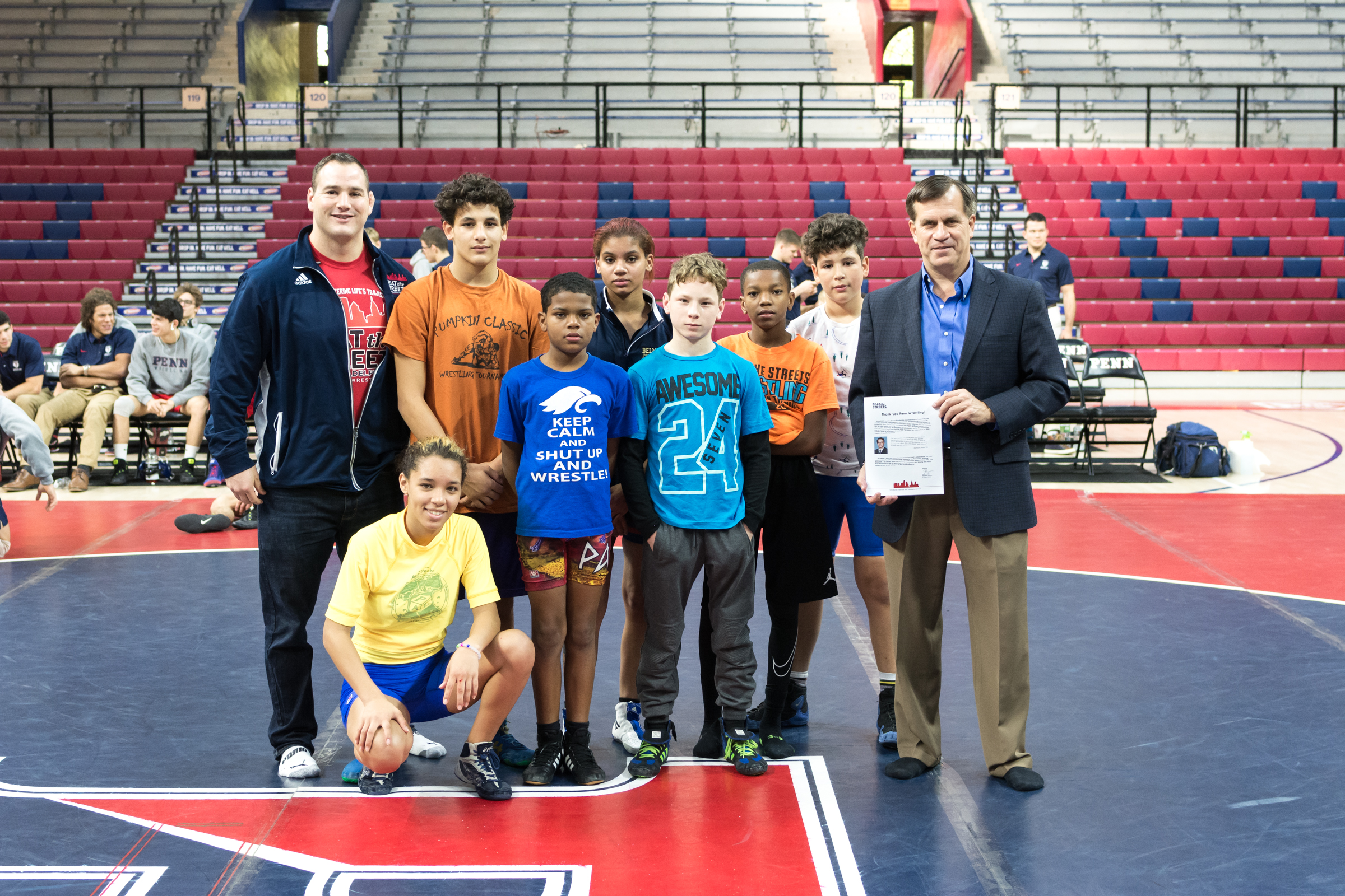 BTSP Wrestlers Compete at Penn Homecoming
